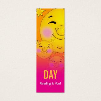 Day  & Night - Reading is fun! bookmark Mini Business Card