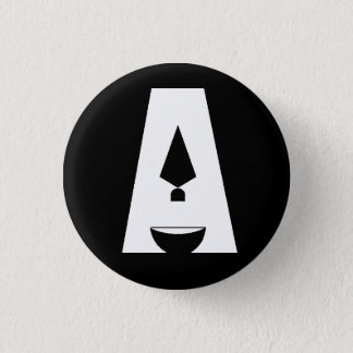 """Day of Archaeology """"A"""" logo black button"""