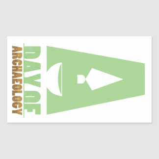 Day of Archaeology rectangular sticker