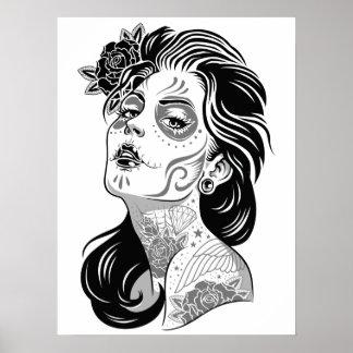 Day of dead girl poster