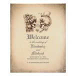 Day of Dead Skull Couple Wedding Welcome Sign