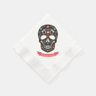 Day of Dead Sugar Skull Napkins Disposable Napkin