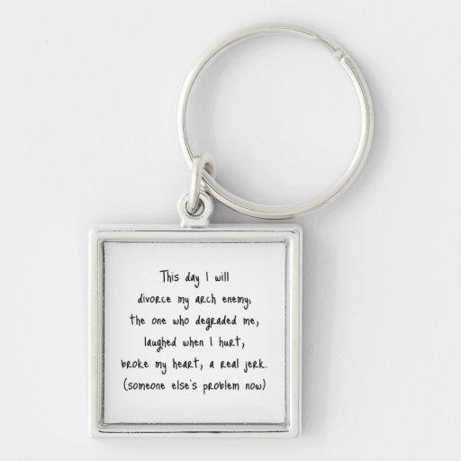 Day of Divorce Souvenir Key Chains