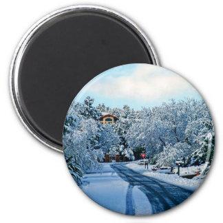 Day of snow Sedona, magnet