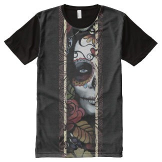 Day of the Dead Antique All-Over Print T-Shirt