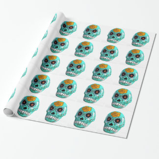 Day of the Dead Aqua Candy Skull