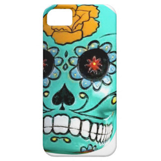 Day of the Dead Aqua Candy Skull iPhone 5 Cover