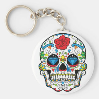 Day of the Dead Basic Round Button Key Ring