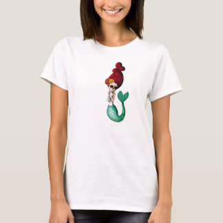 Day of The Dead Beautiful Mermaid Girl T-Shirt