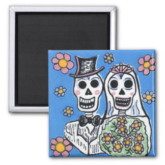 Day of the Dead Bride and Groom Magnet