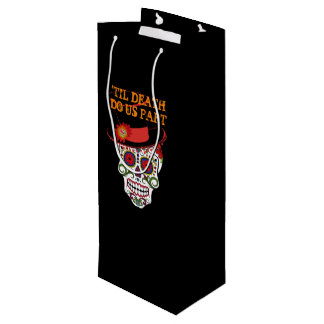 Day Of The Dead Bride And Groom Party Wine Bag