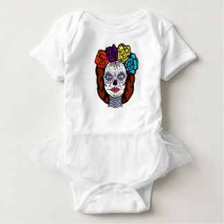 Day of the Dead Bride Baby Bodysuit