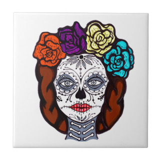 Day of the Dead Bride Ceramic Tile