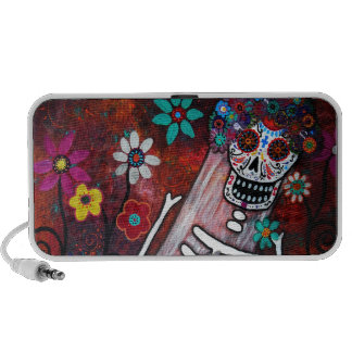 DAY OF THE DEAD BRIDE SPEAKERS iPod SPEAKERS