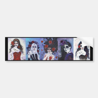 Day of the dead Bumper sticker By Renee Lavoie