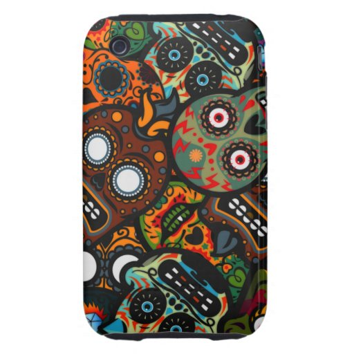 Day Of The Dead iPhone 3 Tough Case
