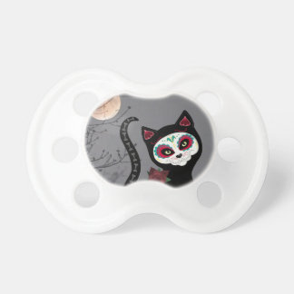 Day of the Dead Cat Baby Pacifiers