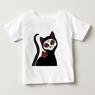 Day of the Dead Cat Baby T-Shirt