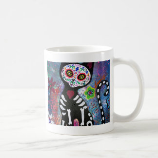 Day of the Dead Cat by Prisarts Coffee Mugs