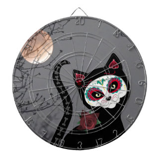 Day of the Dead Cat Dartboard