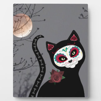 Day of the Dead Cat Display Plaques