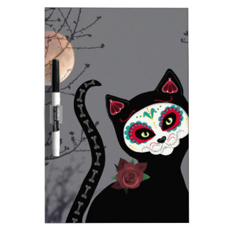 Day of the Dead Cat Dry Erase Board