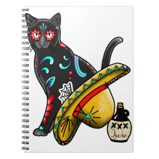 Day of the dead cat notebook