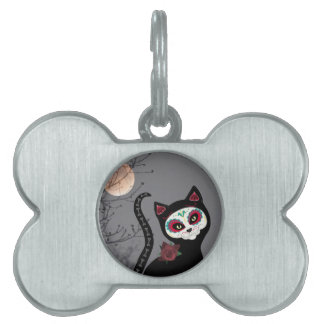 Day of the Dead Cat Pet ID Tag