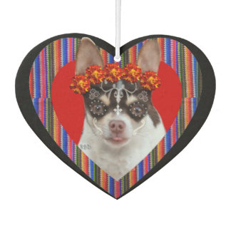 Day of the Dead Chihuahua Dog car air freshener