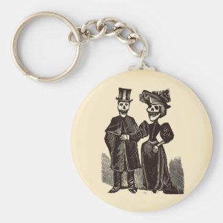 Day of the Dead Couple Key Ring