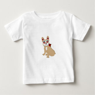 Day of the Dead Cream  Frenchie Baby T-Shirt