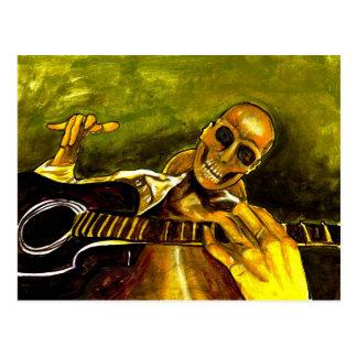 day of the dead/dia de los muertos postcard
