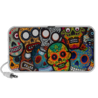 Day Of The Dead Doodle Mp3 Speakers