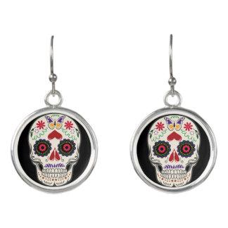 Day of the Dead Earrings - Horror Skull Jewelry