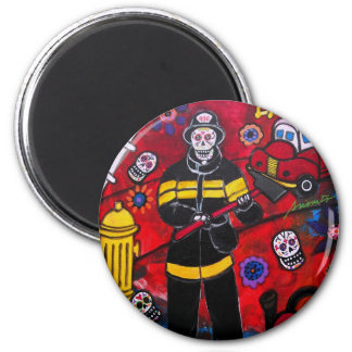 DAY OF THE DEAD FIREMAN MAGNETS
