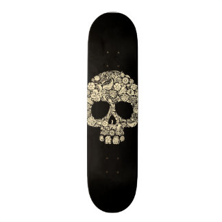 Day of The Dead Flower Skull 21.3 Cm Mini Skateboard Deck