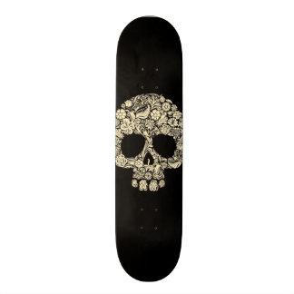 Day of The Dead Flower Skull Skate Boards