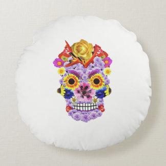Day of the Dead- Flowers & Skull Pillow