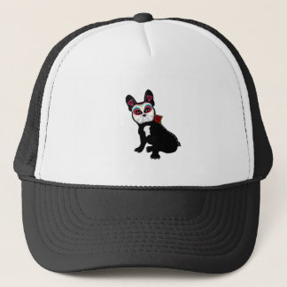 Day of the Dead Frenchie Trucker Hat