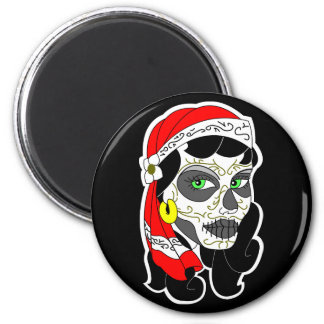 Day of The Dead Girl 6 Cm Round Magnet