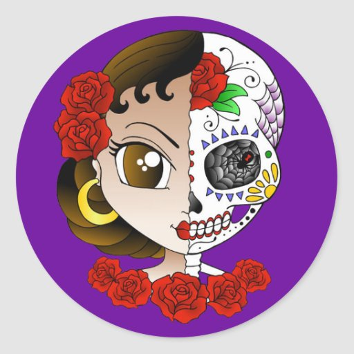 Day of the Dead Girl sticker