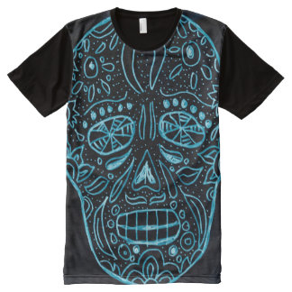 Day of the Dead Glow In The Dark All-Over Print T-Shirt