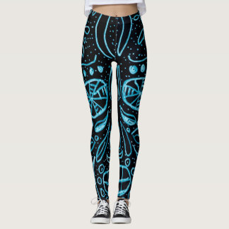 Day of the Dead Glow In The Dark Custom Style Leggings