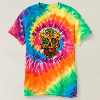 Day of the Dead Gold Sugar Skull T-Shirt