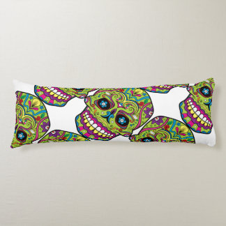 Day of the Dead Green Skull Body Cushion
