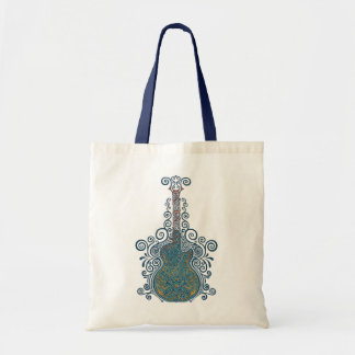 Day of the Dead Guitar Tote Bags