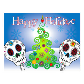 Day of the Dead Holidaze Postcard