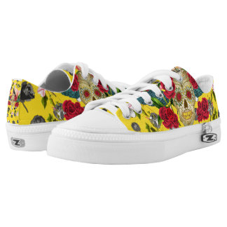 Day of the Dead  I  Dia De Los Muertos Sneaks Low Tops