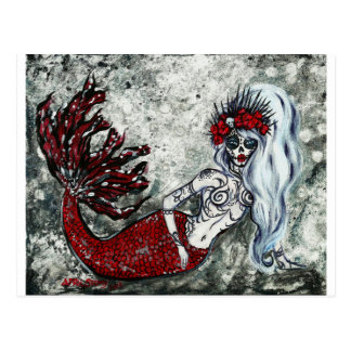 Day of the Dead Izabel Mermaid Postcard