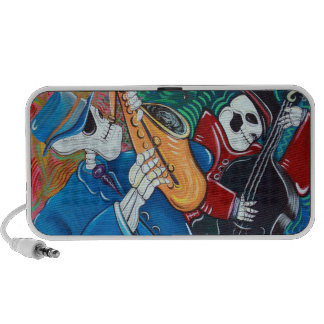 Day Of The Dead Jazz Band Doodle Mp3 Speakers